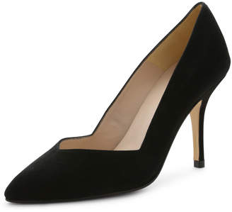 Andre Assous Steph Suede Pointed-Toe Pump, Black $119 thestylecure.com