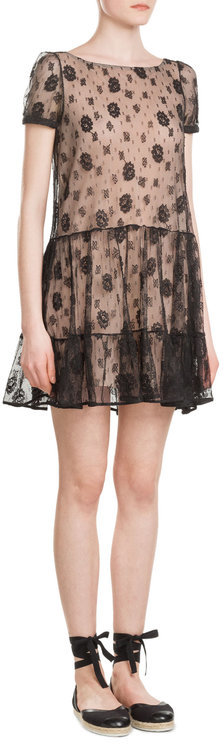 RED Valentino R.E.D. Valentino Lace Dress with Self-Tie Back