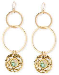 Devon Leigh Opalescent Double-Link Earrings