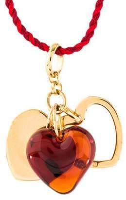 Lalique Crystal Heart Pendant Necklace