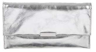 Loeffler Randall Metallic Leather Clutch
