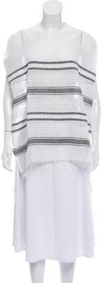 Lemlem Semi-Sheer Cap Sleeve Tunic