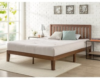 Zinus King 12 Inch Solid Wood Platform Bed with Headboard