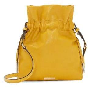 Vince Camuto Aliz Leather Drawstring Crossbody Bag