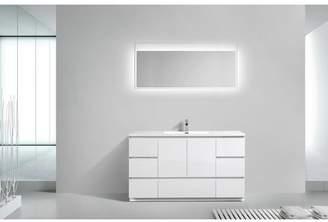 """Orren Ellis Riker Free Standing 60"""" Single Bathroom Vanity Set Base"""