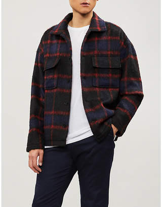 The Kooples Checked woven jacket