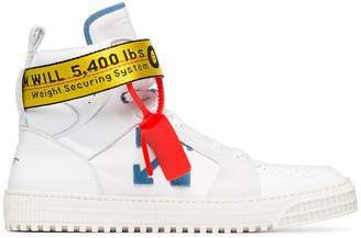 Off-White White Industrial Hi Top Leather Trainers