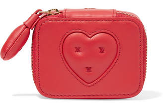 Anya Hindmarch Keepsake Small Embroidered Leather Case - one size