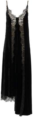 Stella McCartney black lace slip silk dress
