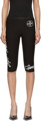 Off-White Black Jogging Crop Shorts