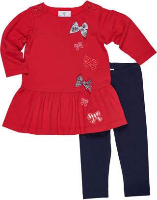 Florence Eiseman Knit Bow Dress w/ Leggings, Size 2-6X