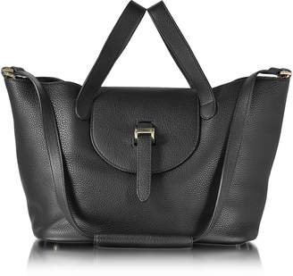 Meli-Melo Black Leather Thela Medium Tote Bag
