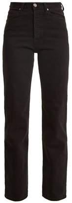Eve Denim - Juliette High Rise Straight Leg Jeans - Womens - Black