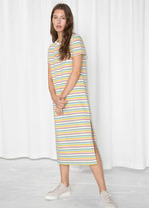 And other stories Striped Midi Shirt Dress