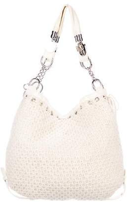 Dolce & Gabbana Leather-Timmed Knit Bag