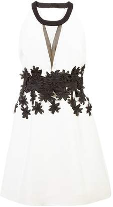 Halston floral embellished dress