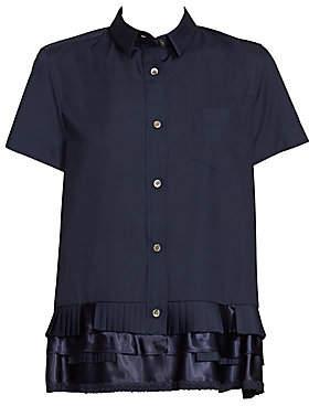 Sacai Women's Poplin Ruffle Shirt