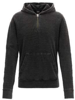 BOSS ORANGE Hugo Boss Yarn-Dyed Hoodie Zleek XL Black
