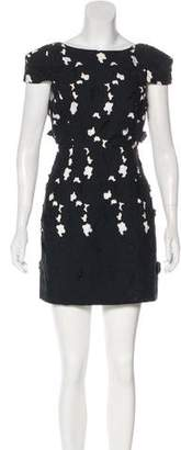 Tibi Floral Pattern Mini Dress