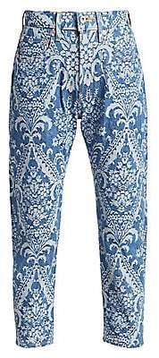 6719b85d82707 Junya Watanabe Women s Lace Patchwork Selvedge Denim Straight-Leg Jeans