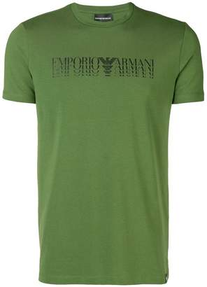 Emporio Armani displaced logo T-shirt