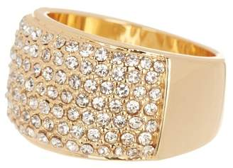 Covet Crystal Pave Wide Band Ring