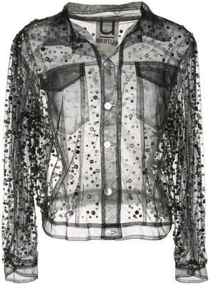 Aviu sheer embellished jacket