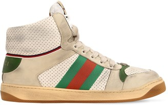 0308308faf3 Gucci Screener Hike Leather High Top Sneakers