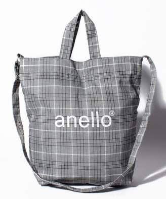 Anello (アネロ) - l'ecrin 【anello】AI-C2553 チェック柄 2WAYトートバッグ