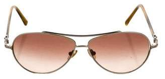 David Yurman Metallic Aviator Sunglasses