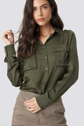 NA-KD Na Kd Chest Pocket Satin Shirt