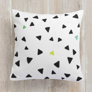 Festive Triangles Square Pillow