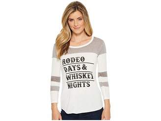 Rock and Roll Cowgirl 3/4 Sleeve Tee 48T5552 Women's T Shirt