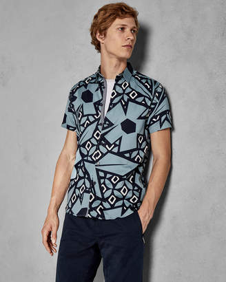 Ted Baker HISTLE Statement print cotton shirt