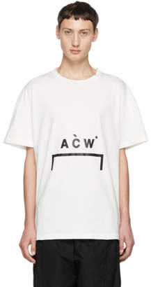 A-Cold-Wall* White Bracket Logo T-Shirt