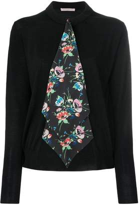 Christopher Kane archive floral tie cardigan
