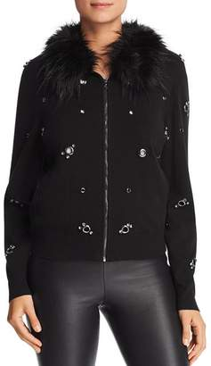 Paige Le Gali Grommet Zip-Up Cardigan - 100% Exclusive