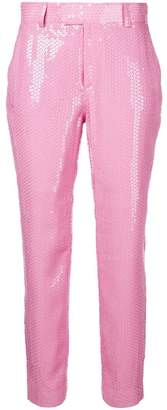 MSGM sequin embellished trousers