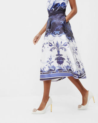 Persian Blue full skirt $295 thestylecure.com