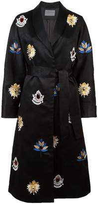 Osman embroidered belted coat