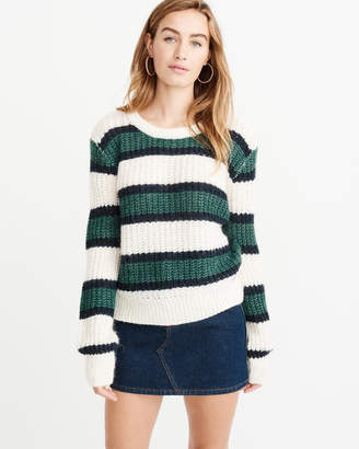 Abercrombie & Fitch Lofty Puff Sleeve Crew Sweater