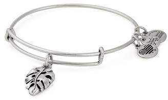 Alex and Ani Alm Leaf Charm Wire Adjustable Bracelet