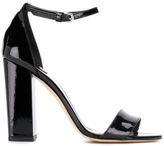 The Seller patent heeled sandals