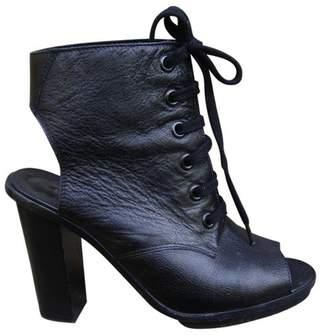 Claudie Pierlot Black Leather Sandals