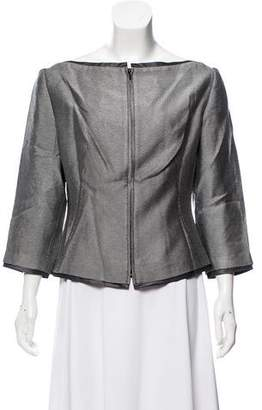 Givenchy Zip-Accented Peplum Top