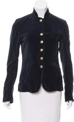 Nili Lotan Long Sleeve Velvet Jacket