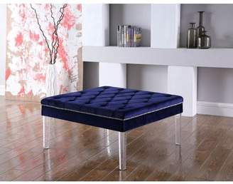 """Ore International 18"""" in NAVY BLUE DIAMOND TUFTED COFFEE TABLE"""