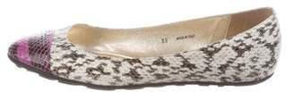 Jimmy Choo Python Cap-Toe Ballet Flats