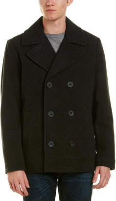 Kenneth Cole New York Wool-Blend Peacoat