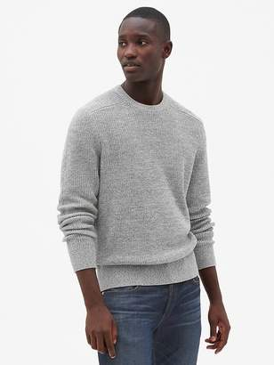Gap Shaker Stitch Pullover Crewneck Sweater